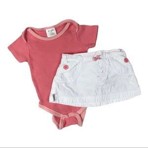 2 piece coral summer outfit set